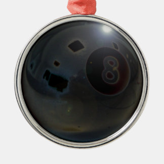 8-ball Silver-Colored round decoration
