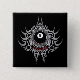 8 Ball Table Runner - Red 15 Cm Square Badge
