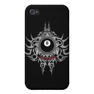 8 Ball Table Runner - Red iPhone 4 Case