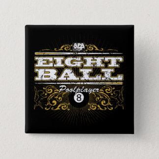 8 Ball Vintage Design 15 Cm Square Badge