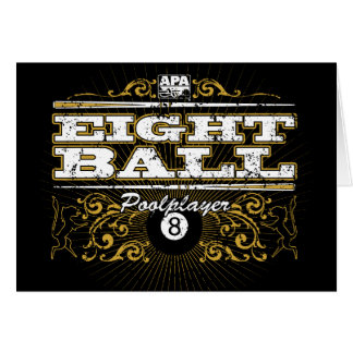 8 Ball Vintage Design Card
