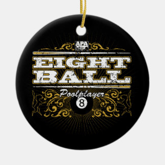 8 Ball Vintage Design Christmas Ornament