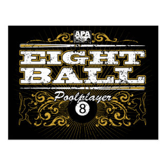8 Ball Vintage Design Postcard