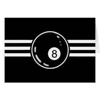 8 Ball White Stripes Card