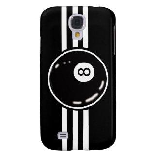 8 Ball White Stripes Galaxy S4 Case