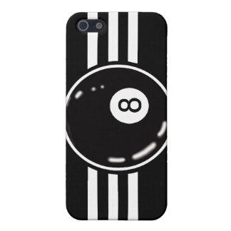 8 Ball White Stripes iPhone 5/5S Case