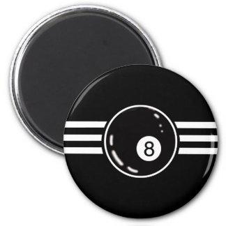 8 Ball White Stripes Magnet