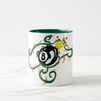 8-ball with vines Two-Tone mug