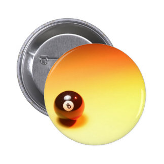 8 Ball Yellow Background 6 Cm Round Badge