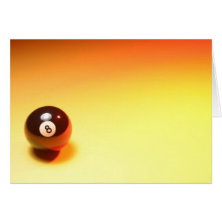 8 Ball Yellow Background Card