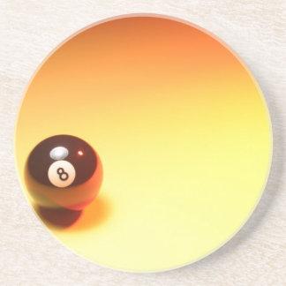 8 Ball Yellow Background Coaster