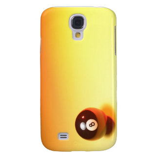 8 Ball Yellow Background Galaxy S4 Case