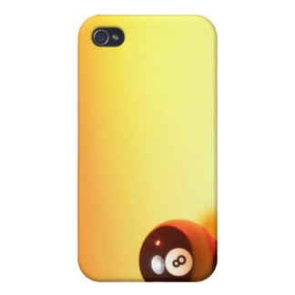 8 Ball Yellow Background iPhone 4 Case