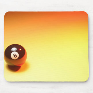 8 Ball Yellow Background Mouse Mat