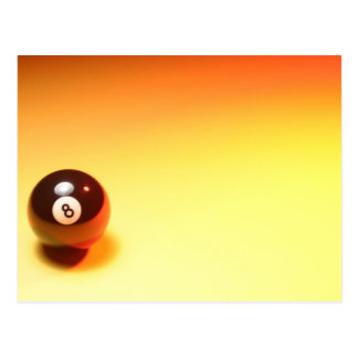 8 Ball Yellow Background Postcard
