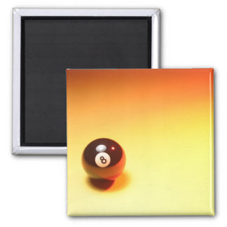 8 Ball Yellow Background Square Magnet