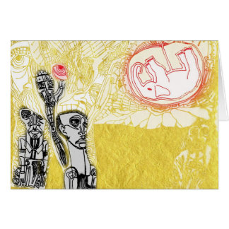 8 birth of an elephant detail greeting card