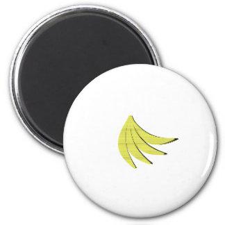 8 Bit Bananas 6 Cm Round Magnet