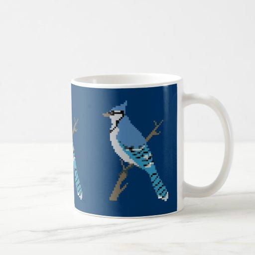 8-bit Bluejay Sprite Mug