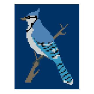 8-bit Bluejay Sprite Postcard