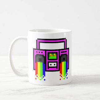 8 Bit Boom Box Basic White Mug