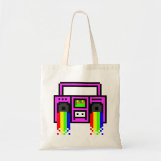 8 Bit Boom Box Budget Tote Bag