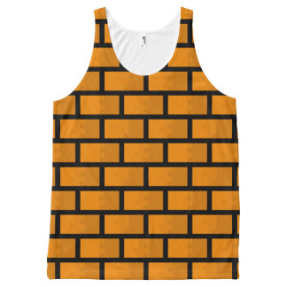 8 Bit Brick Wall All-Over Print Tank Top