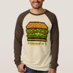 8-bit Burger Power Up T Shirts