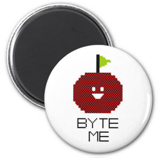 8-Bit Byte Me Cute Apple Pixel Art Magnet