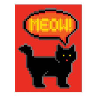 8-Bit Cat Postcard