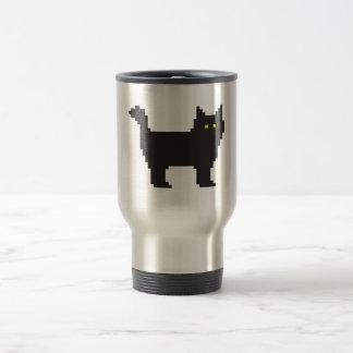 8-Bit Cat Stainless Steel Travel Mug