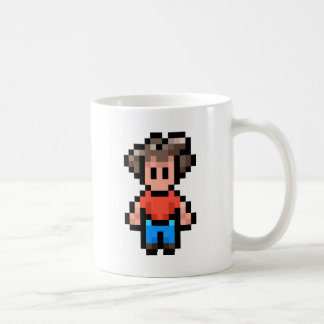 8-Bit-Character Basic White Mug
