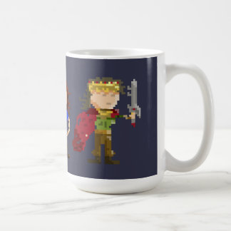 8-bit characters basic white mug