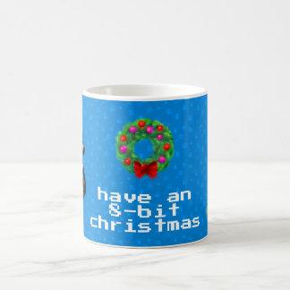 """8-Bit Christmas"" Coffee Mug (Blue)"