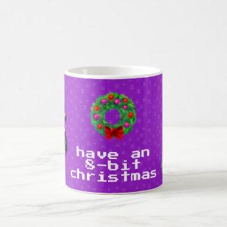 """8-Bit Christmas"" Coffee Mug (Dark Purple)"