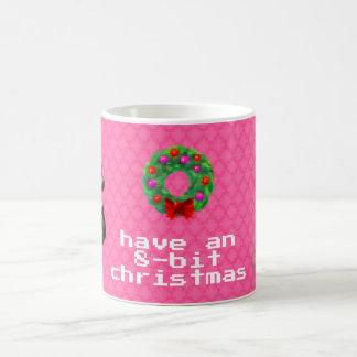 """""""8-Bit Christmas"""" Coffee Mug (Pink)"""