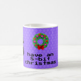 """8-Bit Christmas"" Coffee Mug (Purple)"