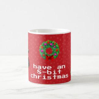 """""""8-Bit Christmas"""" Coffee Mug (Red)"""