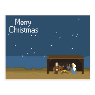 8-Bit Christmas Nativity Scene Postcards