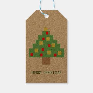 8-bit Christmas retro Gift Tags