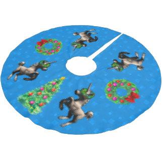 """8-Bit Christmas"" Tree Skirt (Bright Blue)"