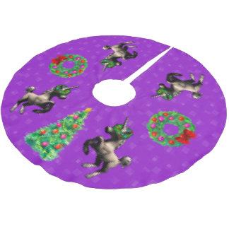 """8-Bit Christmas"" Tree Skirt (Bright Purple)"