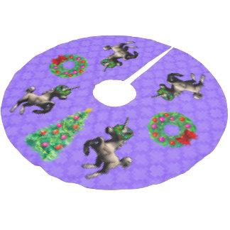 """8-Bit Christmas"" Tree Skirt (Purple)"