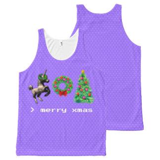 """8-Bit Christmas"" Unisex Tank Top (Light Purple)"
