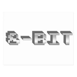 8-bit - Gamer, Gaming, Video Games, Games, Retro Post Card