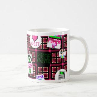 8 Bit Geek Basic White Mug