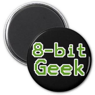 8-bit Geek Humorous Nerd 6 Cm Round Magnet