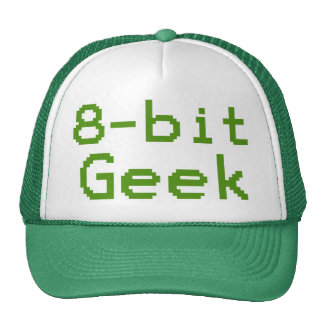 8-bit Geek Humorous Nerd Mesh Hat