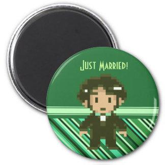 8-bit Groom Green Magnet Refrigerator Magnet