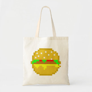 8 Bit Hamburger Budget Tote Bag